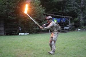 812キャンプファイヤー火の神